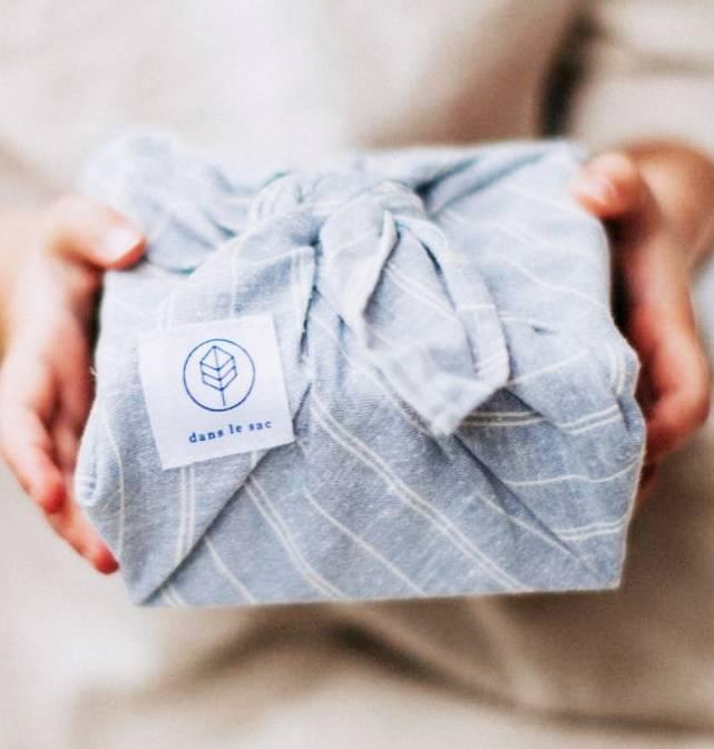 Dans le sac Serviette Reutilisable - Bleu