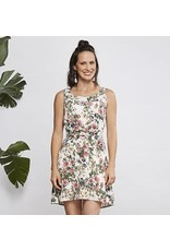 Cherry Bobin Dahlia Dress - White Flower