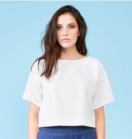 Dagg & Stacey Westley Crop Top - White