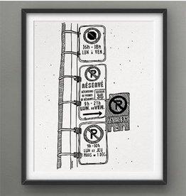 Darveelicious 8x10 Parking hell Print