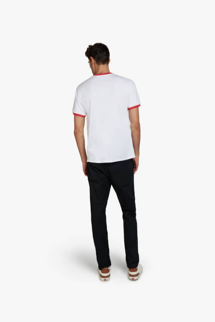 Of Sharks and Men Dimitri T-Shirt - Blanc/Rouge