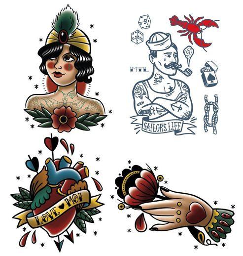 Les tatoués  Les Tatoués Temporary Tattoos - Small
