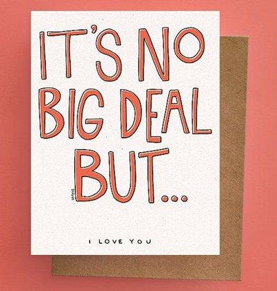 Darveelicious No Big Deal Greeting Card
