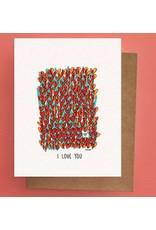 Darveelicious Darveelicious Field of Hearts Greeting Card