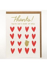 Darveelicious Heart of Gold Greeting Card