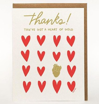 Darveelicious Darveelicious Heart of Gold Greeting Card