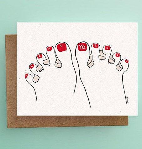 Darveelicious Treat Yo Self Greeting Card