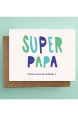 Darveelicious Darveelicious Super Papa Greeting Card