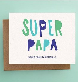 Darveelicious Super Papa Greeting Card