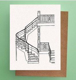 Darveelicious Escaliers Carte Postale