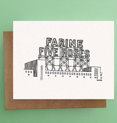 Darveelicious Darveelicious Farine Five Roses Carte Postale