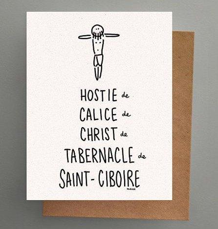 Darveelicious Hostie Carte Postale