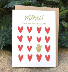 Darveelicious Coeur en Or Greeting Card