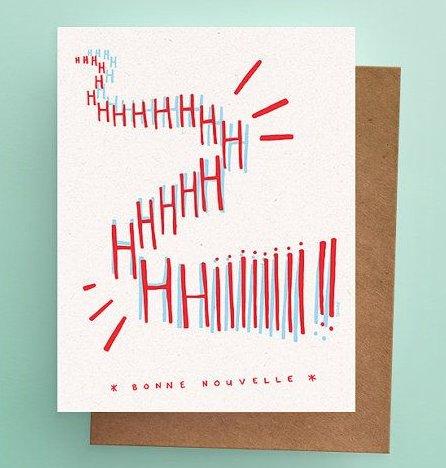 Darveelicious Darveelicious HIIIII Nouvelle Greeting Card
