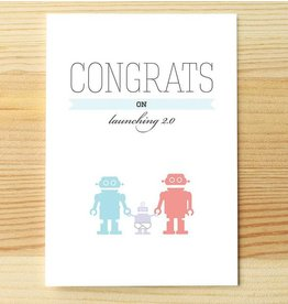 I'll know it when I see it Congrats Baby Robot Greeting Card