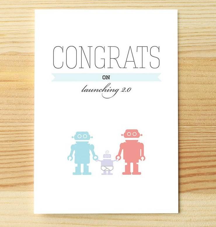 I'll know it when I see it I'll Know it When I See it Congrats Baby Robot Greeting Card