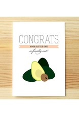 I'll know it when I see it Congrats Baby Avocado Greeting Card