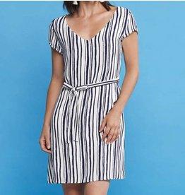 Cherry Bobin Horizon Dress - Blue Lines