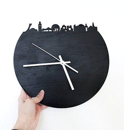 Alice in Montréal Made in Montréal Paysage Montréal Horloge en Ardoise