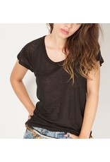 Cameo Fitted Raglan T - Blk