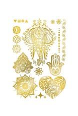 Les tatoués Gold Temporary Tattoos