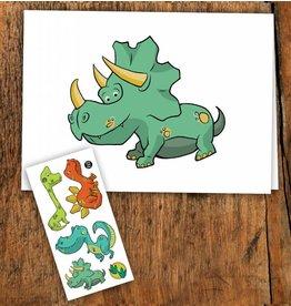 Pico tatoo Dinosaur Greeting Card