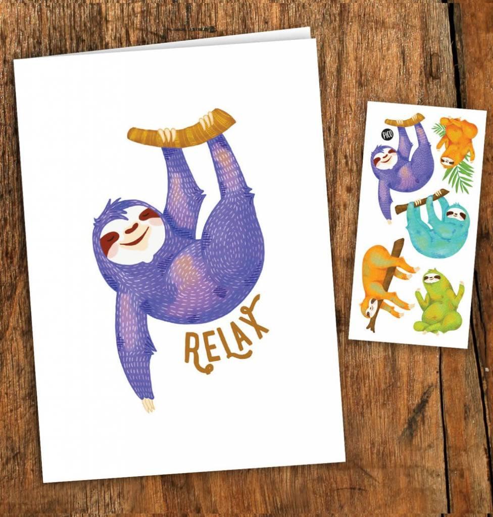 Pico tatoo Pico Tattoo Sloth Greeting Card