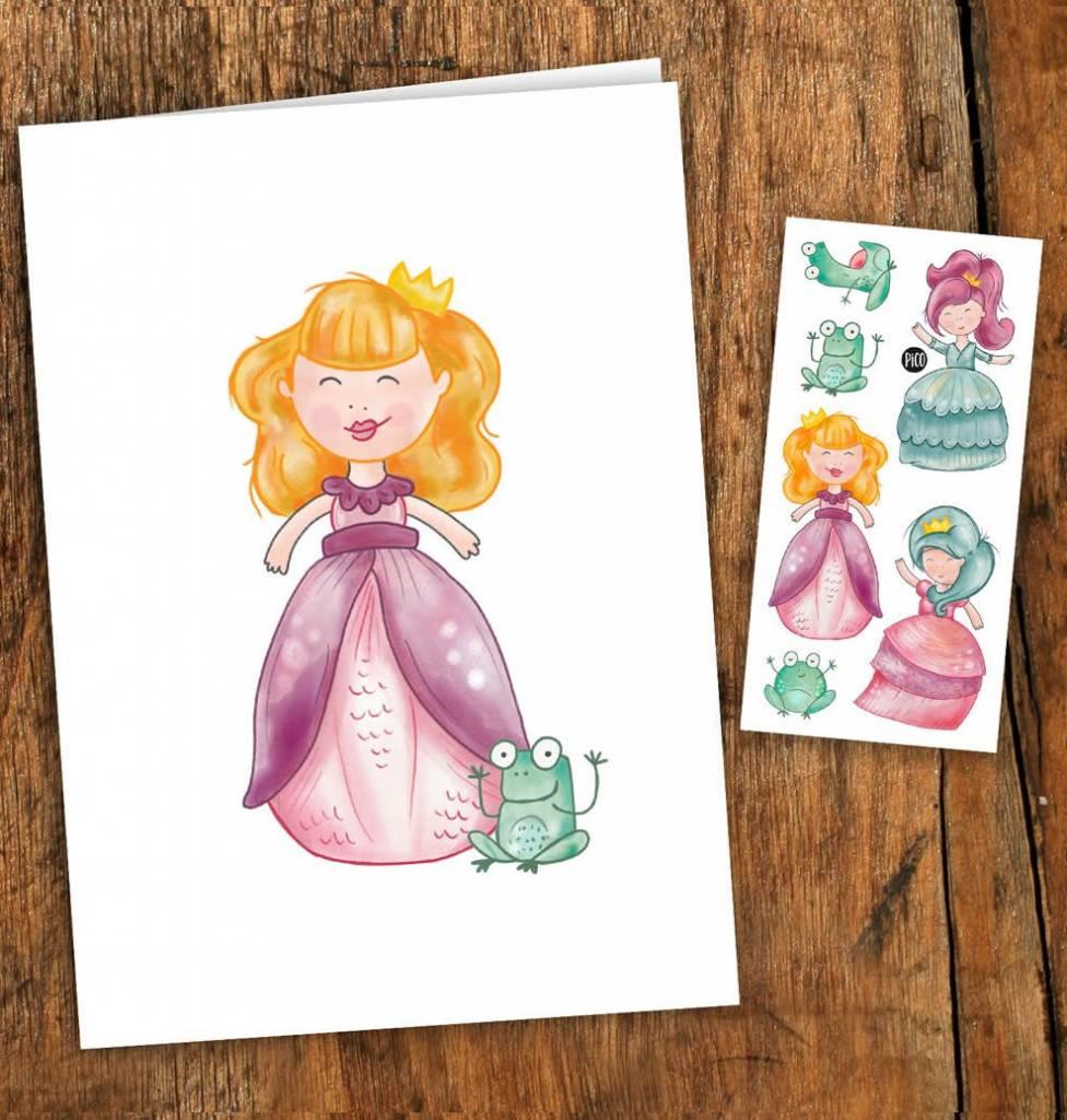 Pico tatoo Princesses Greeting Card