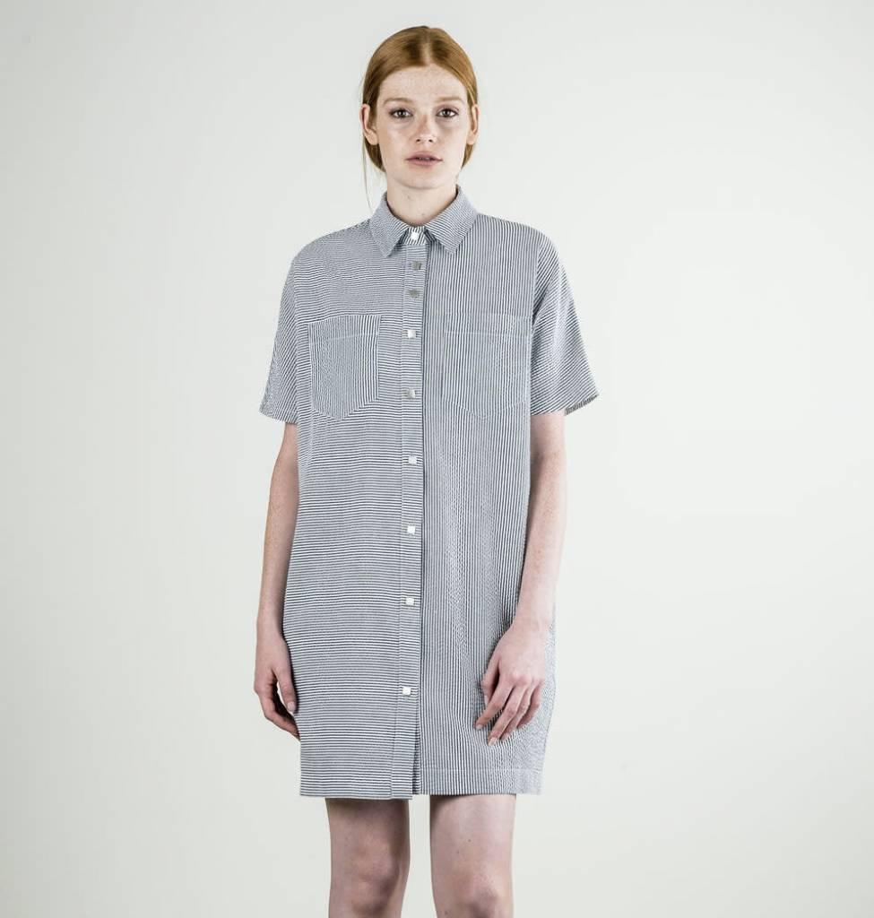Ixtapa dress seersucker stripe evelyne boutique for Boutique article cuisine