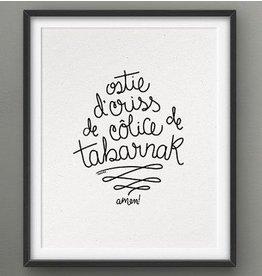 Darveelicious Affichette 5x7 Sacrée // Ostie... Amen!