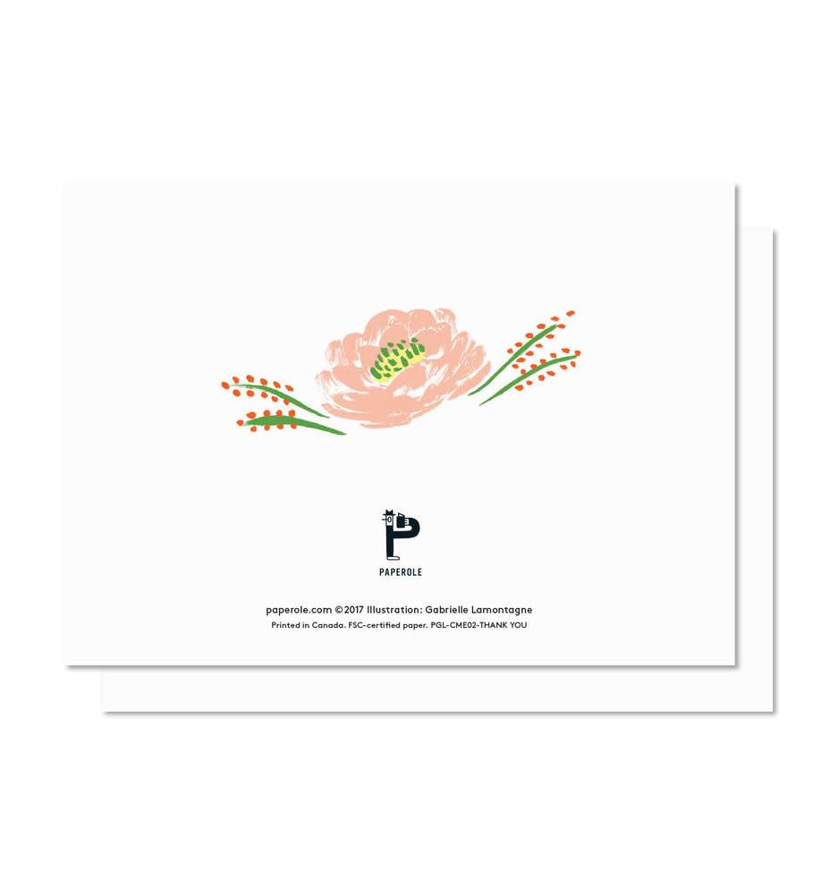 Paperole Thank You Greeting Card Boutique Evelyne