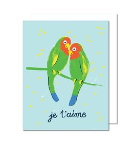 Paperole Lovebirds Greeting Card