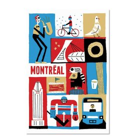 """Paperole 8 x 10"""" Montreal Card Art Print"""