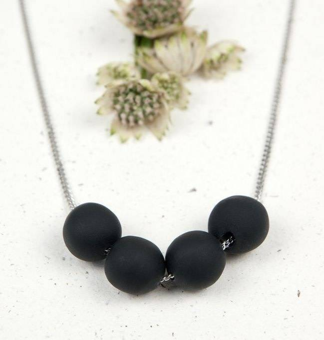 Oeil Noir Oeil Noir 4 Ball Necklace