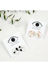 Oeil Noir Round Earrings