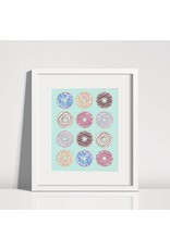 Lolly and Max Donut Print 8 x 10