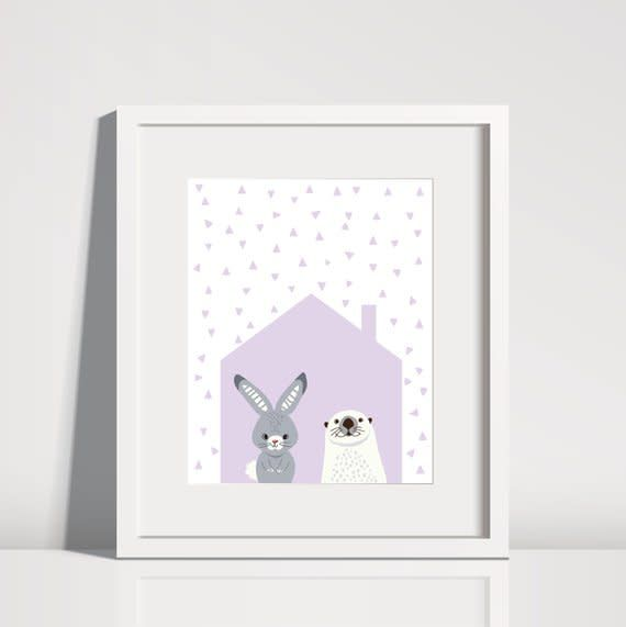 Lolly and Max Lolly and Max Animal House Print 8 x 10