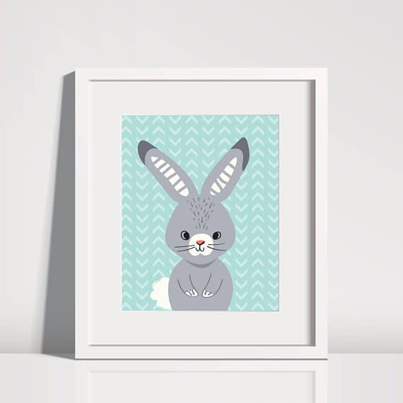 Lolly and Max Lolly and Max Animal Pattern Art Print 8 x 10