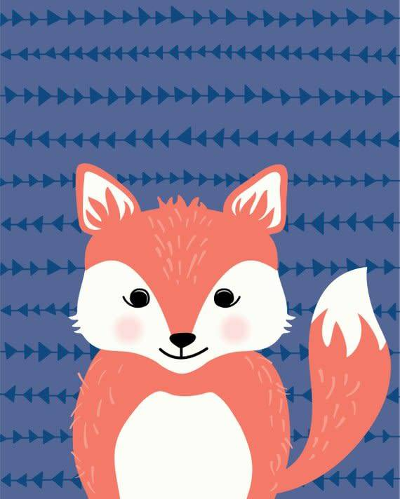 Lolly and Max Animal Pattern Print 8 x 10