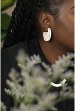 Oeil Noir Oeil Noir Circular Earrings - Beige