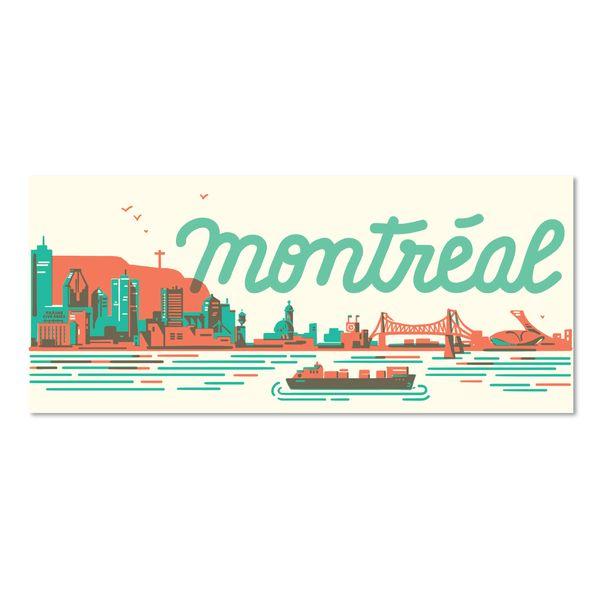 Paperole Paperole Carte postale skyline mtl