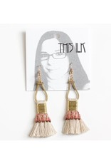 This Ilk This Ilk Talco Earrings - Desert Rose lace and fringe