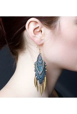 This Ilk This Ilk Koi Earrings - Lace and brass