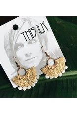 This Ilk This Ilk Poiret Earrings - Silver/Brass and lace