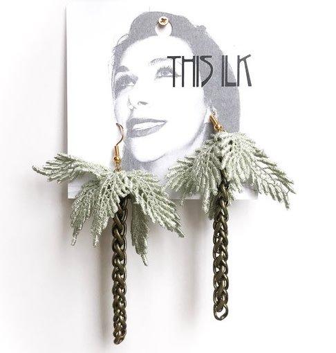 This Ilk This Ilk Boucles d'Oreilles Palmtrees - Dentelle