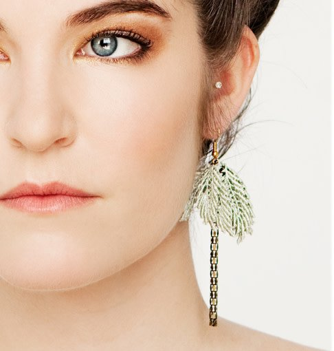 This Ilk This Ilk Palmtrees Earrings - Lace and brass