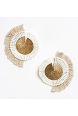 This Ilk This Ilk Savannah Earrings - Fringe, lace and brass