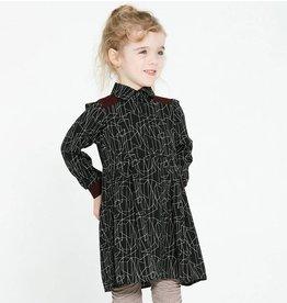 Cokluch Mini Beatrice Long-Sleeve Geometric Dress