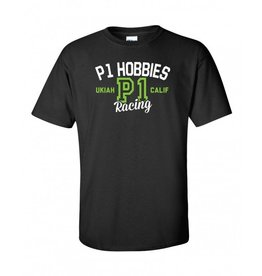 P1 Hobbies P1 Hobbies Racing Dept. Black T Shirt (Men's Large)