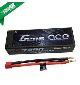 Gens Ace 7200mAh 7.4V 70C 2S1P HardCase Lipo Battery Pack